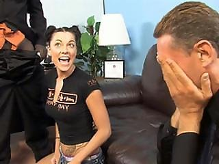 Perky Watches His Daughter Chayse Evans Goes Black