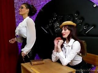 bondage, dominatrix, lesbisk, skole