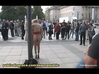 Bdsm, Esclavitud, Dominación, Humiliación, Afuera De, Publico, Esclava, Voyeur