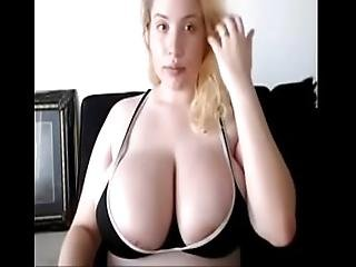 Big Titty White Girl Takes A Huge Load