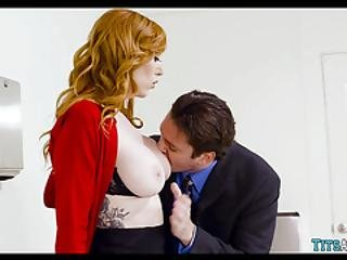 Fucking With Redhead In The Bathroom