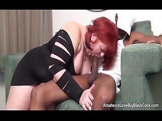 Two White Bbws Share Big Black Cock
