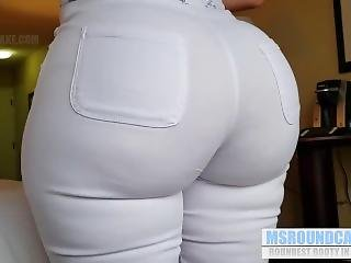 Ms Round Cakes Teen Big Ass In White Jeans