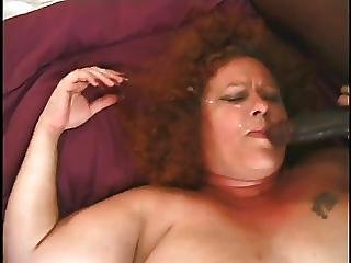 Fat And Furry Redhead Granny Gets A Pair O Cocks