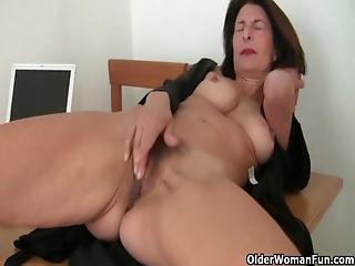 Grandma, Granny, Masturbation, Mature, Milf, Mom, Old, Solo