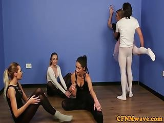 Young Cfnm Ballerina Sucking Trainers Dick