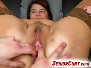 Weird Boy Is Fingering Old Fatty Pussy Of Busty Milf Eva