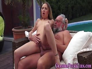 Slut Spunked With Old Rod