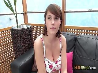 Freckled Czech Gal Sucks Huge Dick - -2a