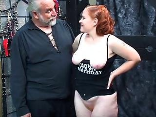 Redhead Slut Kirsten Sucks Her Master S Cock Then Gets Fucked And Spanked