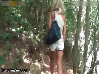 Nasty Blonde Slut Gets Horny Showing Off
