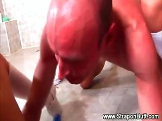 Four Babes All Pegging Useless And Pathetic Guy