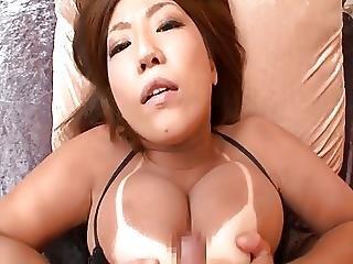 ázsiai, Bbw, Nagy Mell, Mell, Segg, Japán, Lebarnult