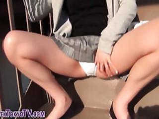 Asian Slut Shows Pants
