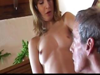 Wanking Old Man Is Luckily Finished Of Curious Horny Teen