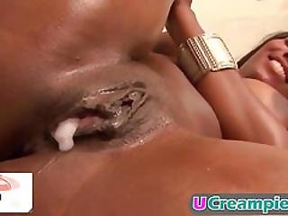 Horny Ebony Whores Get Filled With Cum!