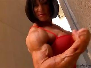 Muscle Lady In Red