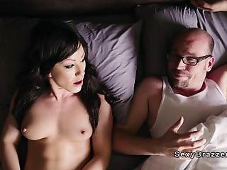 After Her Husband Leaves Her With Cum On Her Face After Bed Sex His Wife Jennifer White Wants More And Calls Her Neighbour Preston Parker And Gets His Big Dick In The Ass In Living Room