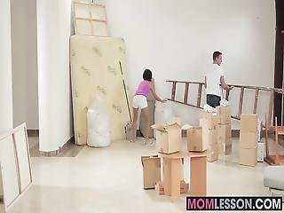 A Naughty Threesome With Stepmom Joining