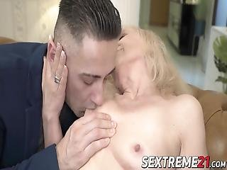 Grandma Seduces Younger Stud Into Passionate Lovemaking! Nanney Is A Very Naughty Granny That Usually Gets Exactly What She Wants!
