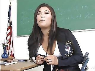 Sexy Schoolgirl London Gets Fucked On The Teachers Desk