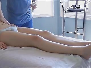 Bambola, Con Le Dita, Massaggio, Sexy, Adolescente, Voyeur
