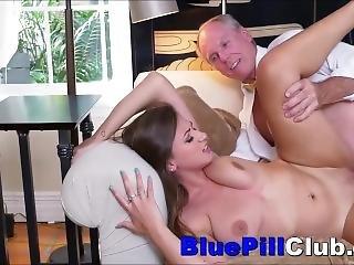 Big Tits Teenager Chugging Cocks Of Couple Of Elderly Guys