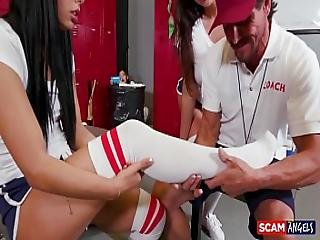 Scam Angels - American Chicks Gina Valentina And Cindy Starfall Scam Their Coach
