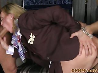 Unifomed Stewardesses Pounded Anal