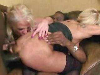 Two Nasty Ass Blonde Grannies Greedy For Bbc