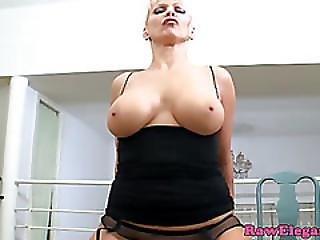 Glam Busty Mature Loves Big Black Dick