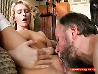 Teen And Grandpa Oral Party