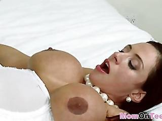 Fine Mature Mom With Huge Melons Is Being Licked By Her Stepdaughter While She Is Getting Drilled