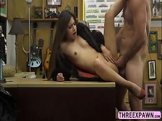 Gorgeous Teen Latina Chick Sucks Big Cock And Rides It