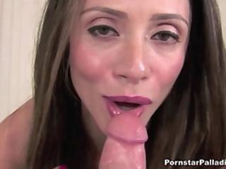 Big Boobed Slut Blows Huge Dick