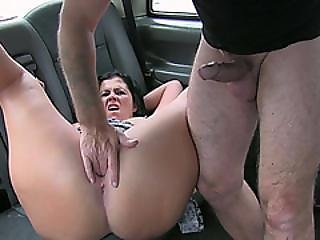 Sexy Whore Gets Her Tight Butthole Pounded Hard In The Backseat