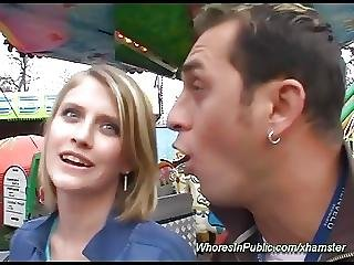 Horny Couple Fucking In Public