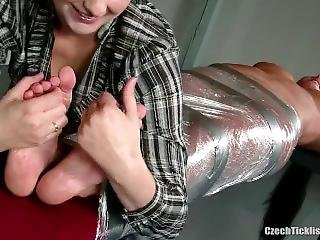 Czech Tickling Mummified Girl