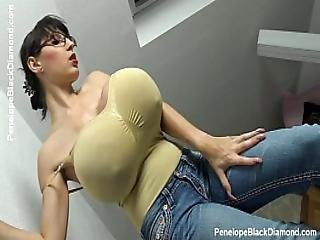 Penelope Black Diamond - Milking Tits - Breastfeeding Boobs Preview