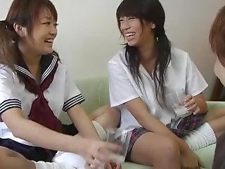 Two Sexy Japanese Girls Spitting And Face Licking Handjob Part 1 Of 4