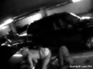 Couple Caught On Security Cam Having Sex In A Parking