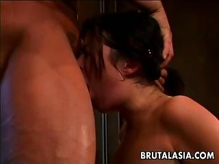 Tender Asian Gal Takes A Hard Dick Up Her Ass