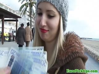 Euro Pick Up Sluts Outdoor Facial Action