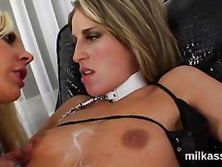Hot Lesbians Fill Up Their Oversized Asses With Whipped Cream And Squirt It Out