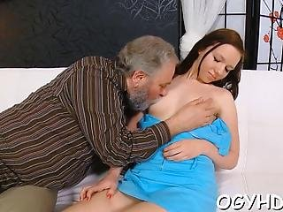 Petite Kinky  Sweetie Gets Her Pussy Slammed By Old Dude