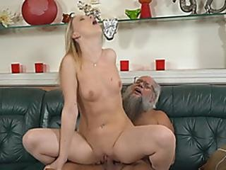 Santa Like Old Fart Nailing A Hot Teen With His Old Rod