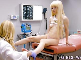 Teen Lesbian Squirts For Fingering Milf Doc