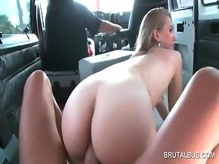 Excited Bitch Gets Fucked Doggie In The Bus