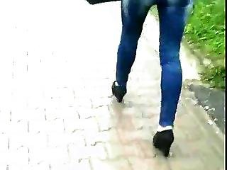 Candid 37 Woman In Tight Jeans And Nice Shoes