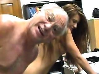Sexy Young Brunette Hard Fucked By Grandpa